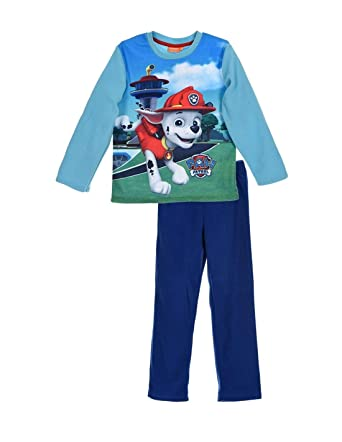 bcc7a10f77fa7 La Pat  Patrouille Pyjama Polaire Enfant garçon Marshall Bleu de 3 à 6ans -  Bleu
