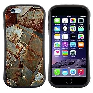 "Pulsar iFace Series Tpu silicona Carcasa Funda Case para Apple (4.7 inches!!!) iPhone 6 Plus / 6S Plus ( 5.5 ) , Hoja de metal moho nave corrosión Construcción"""