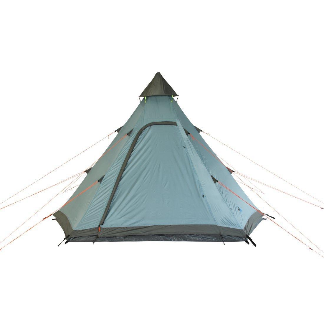 10T Tipi Zelt f/ür 3 Mann wasserdichtes Indianerzelt Teepee mit Bodenwanne Campingzelt in 2 Farben zur Wahl 5000 mm Pyramidenzelt