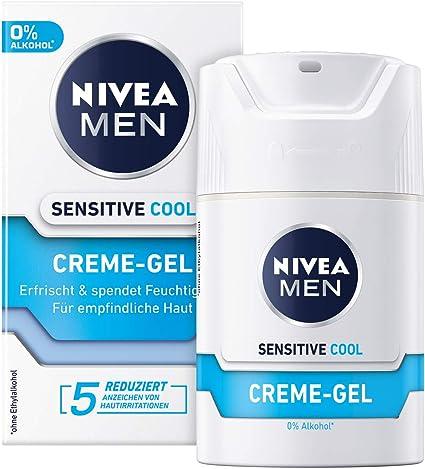 Crema Nivea Men Sensitive Cool en pack de 2 (2 x 50 ml), crema facial refrescante y relajante contra la irritación de la piel.: Amazon.es: Belleza