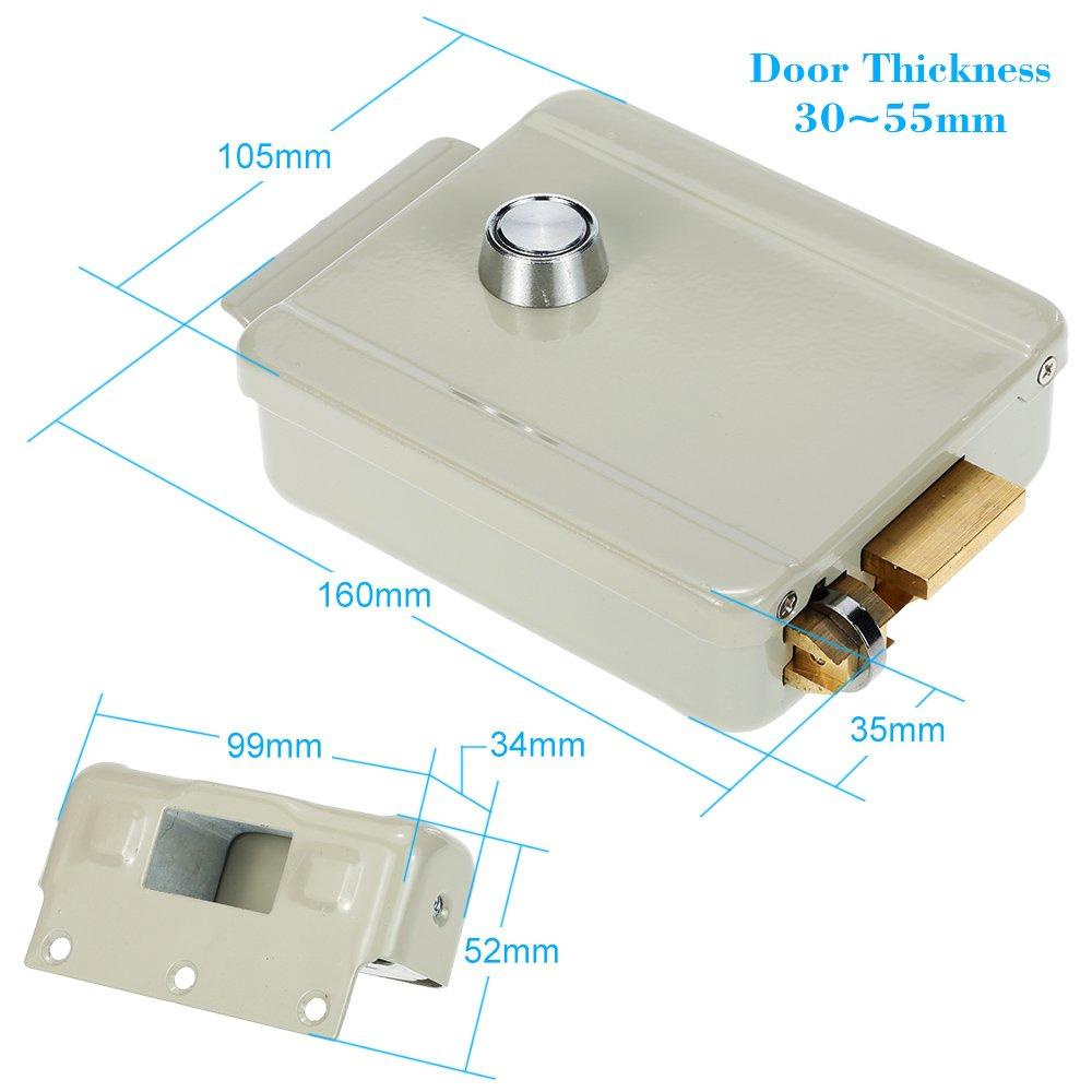KKmoon Elektrische elektrische Verriegelung Rechtshänder Türöffnung ...