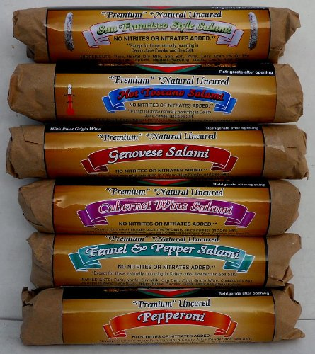 Salami assorted Milan (6 pack) Nitrate Free~dry cured 8oz sticks