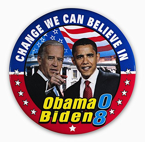Presidential Campaign 2008 Ncampaign Button For Democratic Presidential And Vice Presidential Candidates Barack Obama (Right) And Joseph Biden 2008 Poster Print by (24 x -