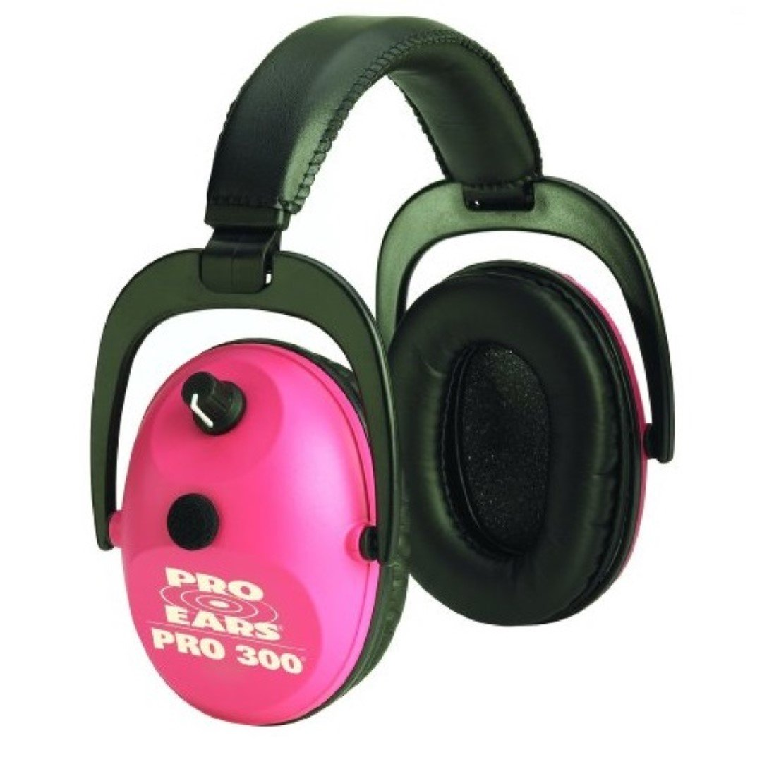 Pro Ears - Pro 300 - Electronic Hearing Protection and Amplification - NRR 26 - Ear  Muffs - Pink