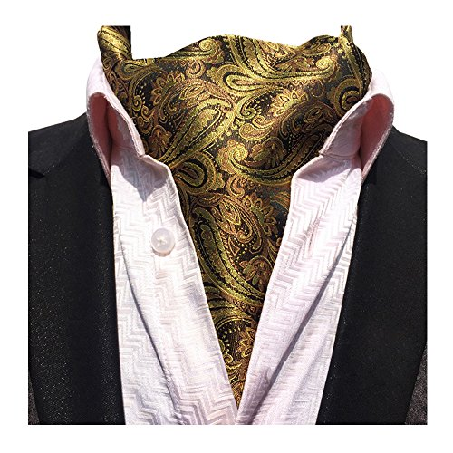 Patterned Brown YCHENG Necktie Men's 06 Lja Scarf Jacquard Floral Jacquard Ascot Paisley gYHgRq