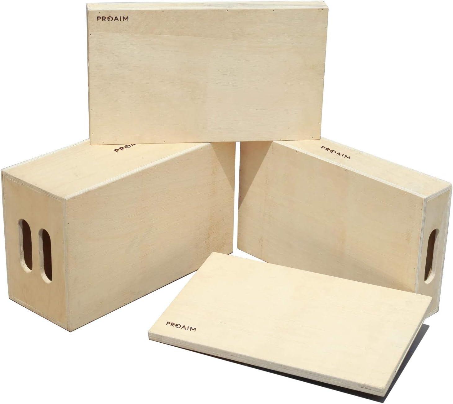 PROAIM Full Set of 4 Standard White Apple Boxes - Multi-Use Wooden Boxes for Studio, Film Set & Photography - Use them for Propping, Leveling, Standing | Full, Half, Quarter & Pancake (AB-SET4-WH)