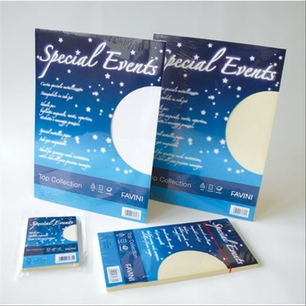 FAVINI carta metallizzata special events 120gr a4 20fg bianco 01 A690154