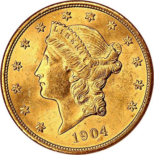 1904 P $20 Liberty Gold Twenty Dollar MS62 NGC - Ngc Ms62 Gold Coin