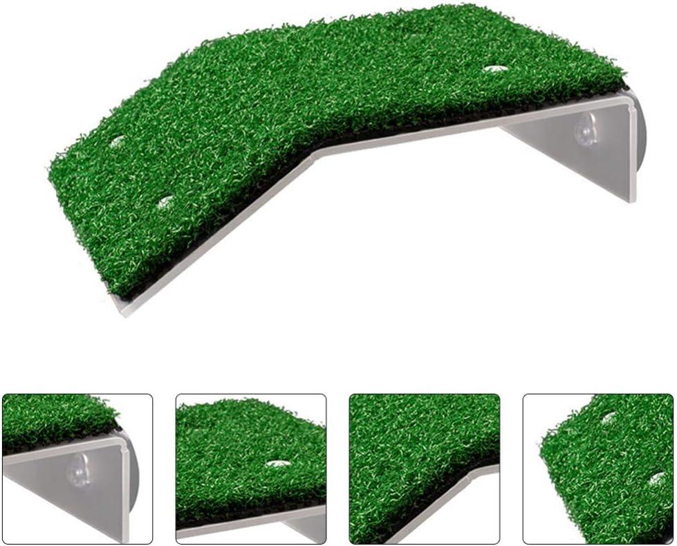 POPETPOP Plataforma para Tomar El Sol Tortuga Escalera de Escalada de Tortuga Acuario Pecera Rampa de Reptil Terraza de Descanso Muelle de C/ésped de Pl/ástico Artificial Suministros para