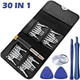 Professional 30-Piece Precision Screwdriver Set Repair Tool Kit, SourceTon Opening Pry Tools with Ratchet Alloy Metal Handle for ipad, Cell Phone, Laptop, iphone, Tablet, MacBook, Game Console