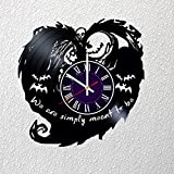 Identica Store Nightmare Before Christmas Vinyl Record Wall Clock - Room Wall Decor - Art Gift Modern Home Record Vintage Decoration Gift for Him and Her - Gift for Fan Gifts for Boys Man Girls w