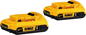 2-Pack DeWalt 20V Max Compact Lithium Ion Compact Battery