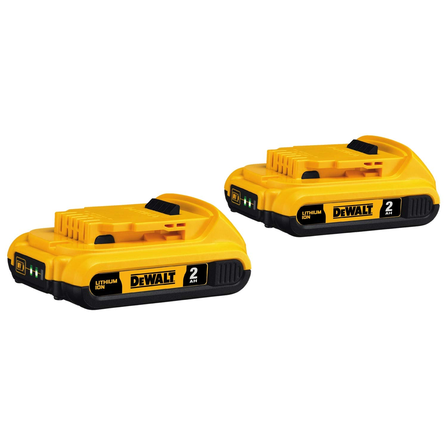 DEWALT 20V MAX Battery, Compact 2.0Ah Double Pack (DCB203-2), Yellow by DEWALT