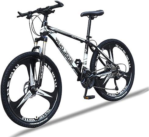 Bicicleta Montaña Hombre 26 Pulgadas, Mountain Bike con Suspensión Frenos y Doble Disco, Bicicletas de Carretera Marco de Acero de Alto Carbono,Negro,27 Speed: Amazon.es: Hogar