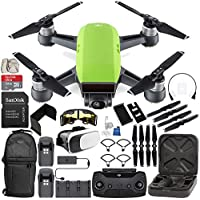 DJI Spark Portable Mini Drone Quadcopter Fly More Combo (Meadow Green) EVERYTHING YOU NEED Bundle