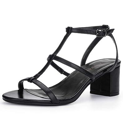 99f372364 Allegra K Women s Open Toe T-Strap Mid Block Heel Sandals  Amazon.ca ...