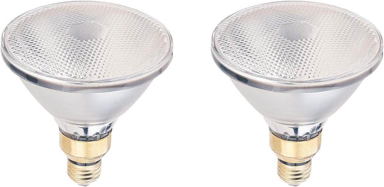 90W PAR38 Halogen Flood Light Bulb, 2700K Soft White, 1700 Lumens, Dimmable, E26 Medium Base, 120V (2 Pack)