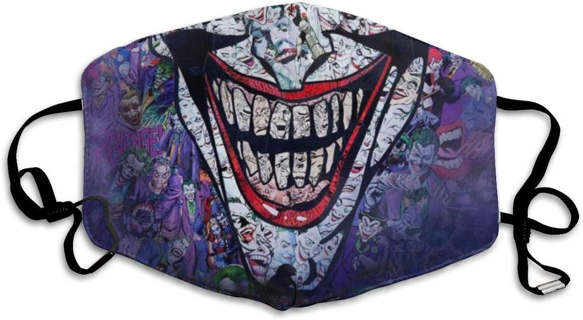 ANGERT/& Dust Mouth Ma-s-k Joker Face Smile Adjustable Windproof Ear Loops Reusable Face Ma-s-k-s for Women Men Kids