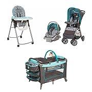 4 Piece Winnie the Pooh Newborn Set Stroller Car Seat High Chair Play Yard Bundle Baby Gear Boy Girl Infant Disney