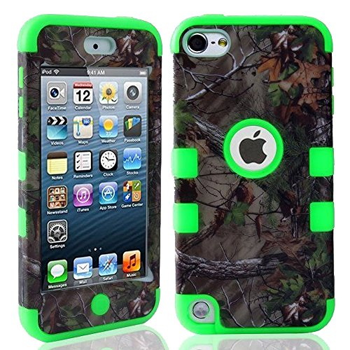 Kecko(TM) Defender Tough Armor Tree Camo Shockproof Dual Layer High Impact Camouflage Hunting Tree Forest Hybrid Hard Suitable Fit Case For ipod Touch 5 5th Only--Forest/Tree/Leaves On The Core (Tree Camo Green)