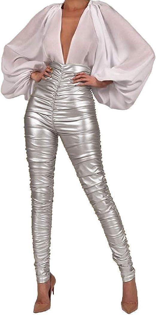 VITryst Womens Bodycon Sexy Pencil Clubwear High Waisted Skinny Pants