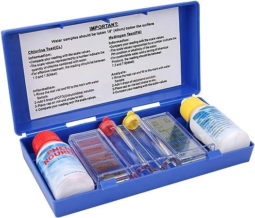HelloCreate Kit de prueba de calidad de agua de pH cloro para piscina