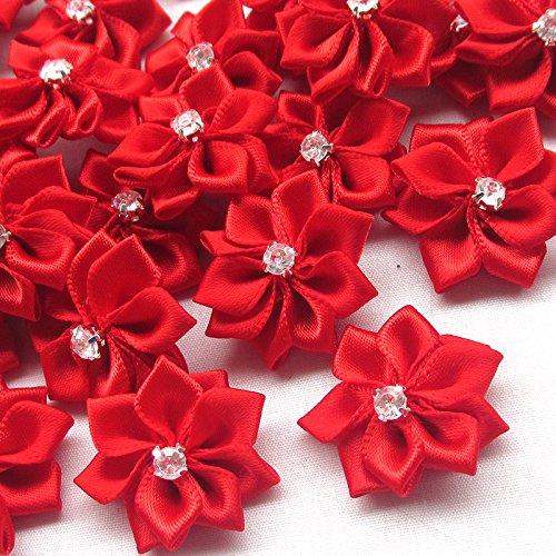 Flowers Rhinestone Wedding Ornament Appliques