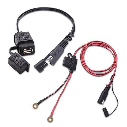amazon com mictuning sae to usb cable adapter waterproof usb rh amazon com