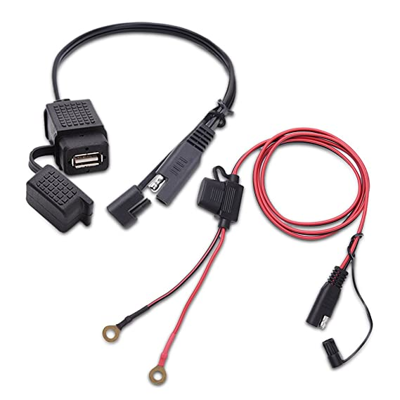 Mictuning Sae To Usb Cable Adapter Waterproof Charger Quick 21a Port With Inline Fuse: Sae Standards For Wiring Harness At Johnprice.co