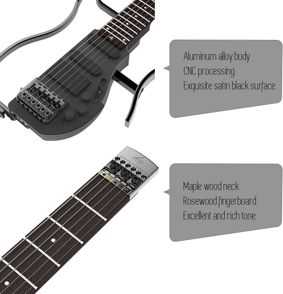 ammoon Electric Guitar Guitarra de viaje Alp AD de 80 profesional ...