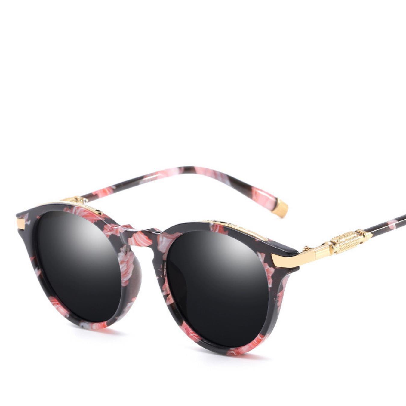 Women Sun Glasses Hipster De Sol Glasses Female Round Pink ...