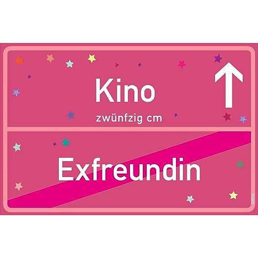 Cartel vanva Kino Exfreundin rosa de cine, placa de cine ...
