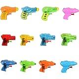 Fun-Here ミニ水鉄砲 浴室玩具 多様な色 12個ランダム入 屋外の屋内に適し 子供と大人の両方に適し