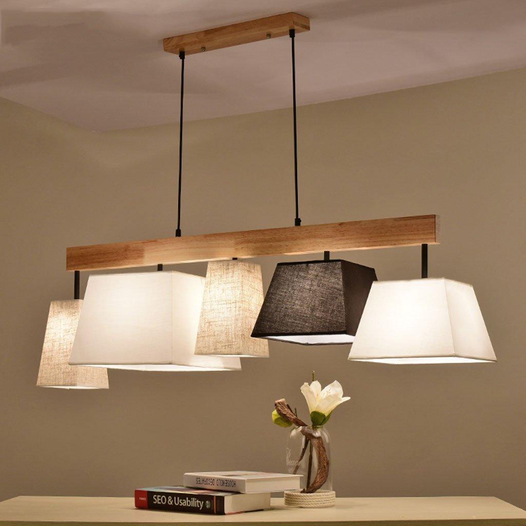 5 Modern Deckenlampe Holz Pendelleuchte Esstisch Deckenleuchte Wohnzimmer Lampe E27 Decke Kronleuchter Balkon Schlafzimmer ( Farbe   5 )
