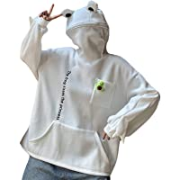 YOUNGE Fleece hoodies Frog Hoodie Winter Warm Dikke Losse Oversized Sweatshirt Outwear Hooded Trui Soft Teens