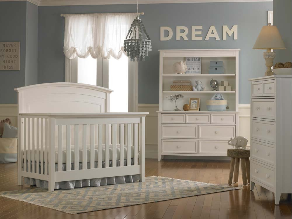 Dolce Babi Primo Crib Full Size Conversion Kit Bed Rails in Snow White