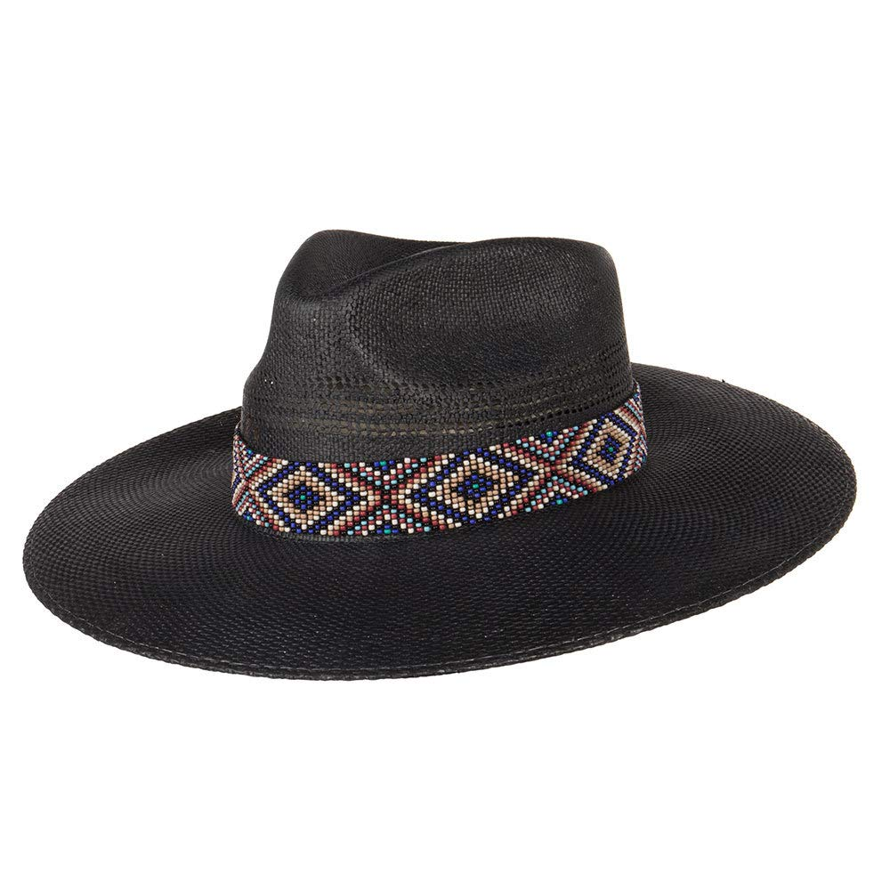 Charlie 1 Horse Hats Womens After Dark 3 1/2 Brim S Black
