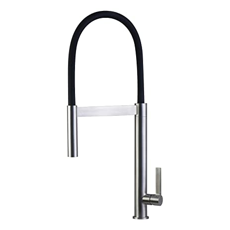 black shower head and faucet. DAX Single Handle Pull Down Kitchen Faucet  Stainless Steel Shower Head And Body Brushed