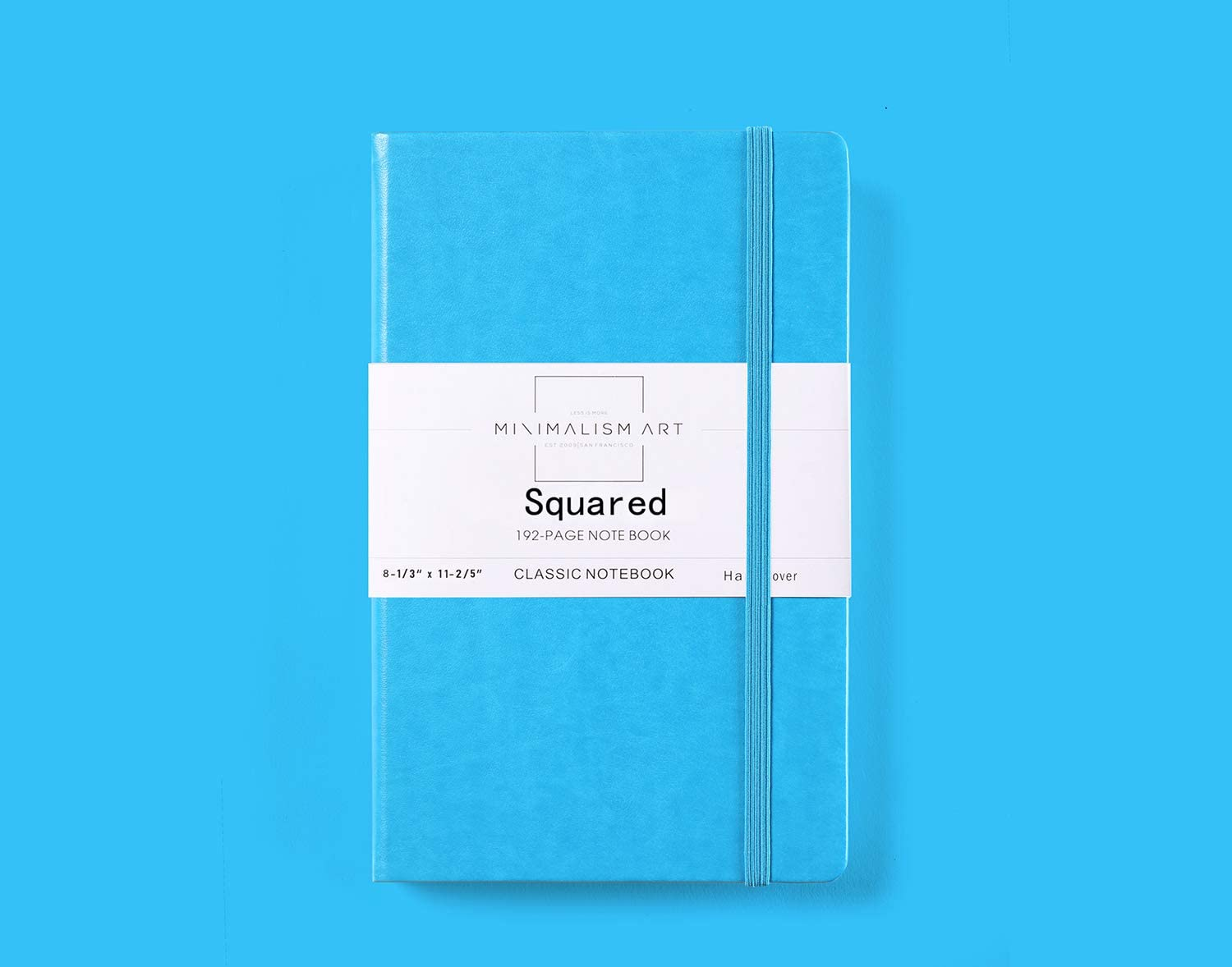 Hard Cover Dotted Grid Page Minimalism Art Designed in San Francisco Classic Notebook Journal Quality Paper-100gsm 192 Pages A4 Size 8.3 X 11.4 inches Fine PU Leather Inner Pocket Blue