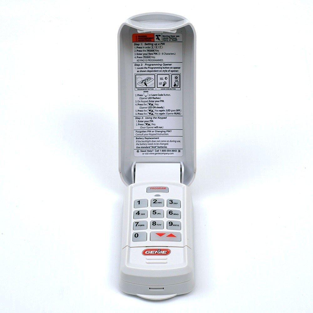 Genie Intellicode Programming >> Genie 37224r Intellicode Wireless Keypad