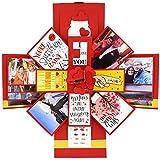 DecuT Explosion Box 3 Layered Handmade Explosion Box Romantic Gift Unique Scrapbook Diy Sweet Memories Photo Album (Customise Explosion Box)