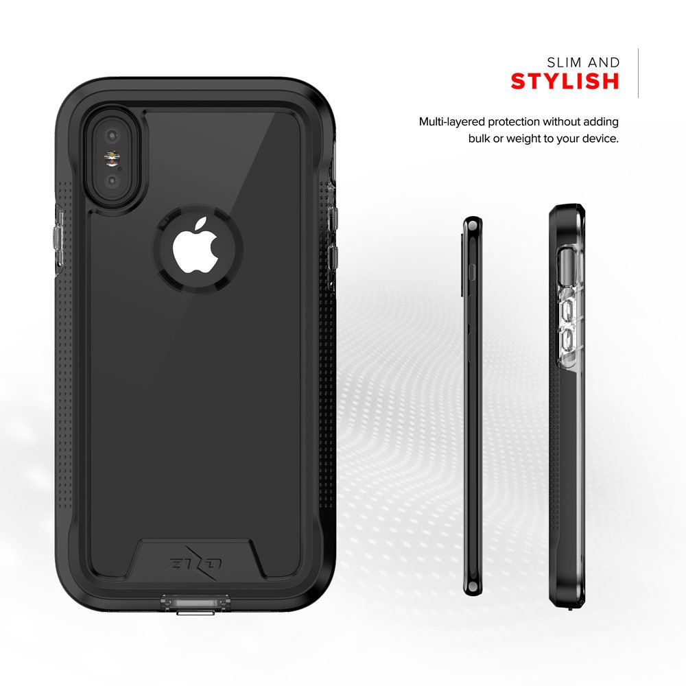 Zizo ION Series Compatible with iPhone X Case Military Grade Drop Tested with Tempered Glass Screen Protector iPhone Xs Case Rose Gold Clear
