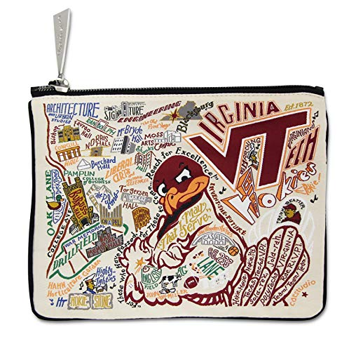 (Catstudio Virginia Tech Zip Pouch | Use as Wallet, Clutch, Handbag or Makeup Bag)