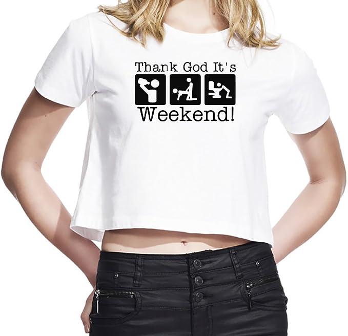 Thank God Its Weekend Camiseta Corta Mujeres Small