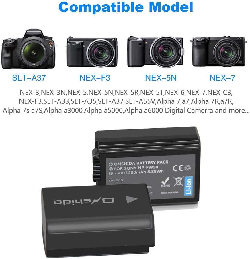 LCD Dual Ladegerät für Sony Alpha A6000 A6300 A6500 A7r A7