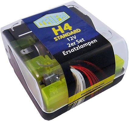 Trifa 01661 – 082 Bombillas de repuesto Caja Midi H4, Juego de 2: Amazon.es: Coche y moto