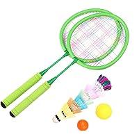 LIOOBO 1 Juego de Raquetas de bádminton de Tenis para niños Que juegan Accesorios de Juego de Raquetas Redondas de bádminton con Bolsa para Deportes al Aire Libre de jardín de Infantes