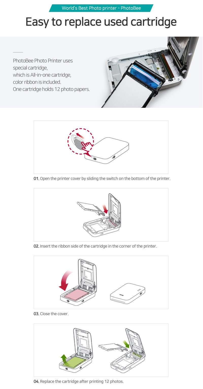 Photobee Portable Wifi Photo Printer - Pink by PHOTOBEE (Image #9)