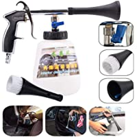 Car Cleaning Gun, leegoal High Pressure Car Interior Washing Gun with Cleaning Nozzle Sprayer Air Pulse Equipment Surface Interior Exterior Tornado Tool