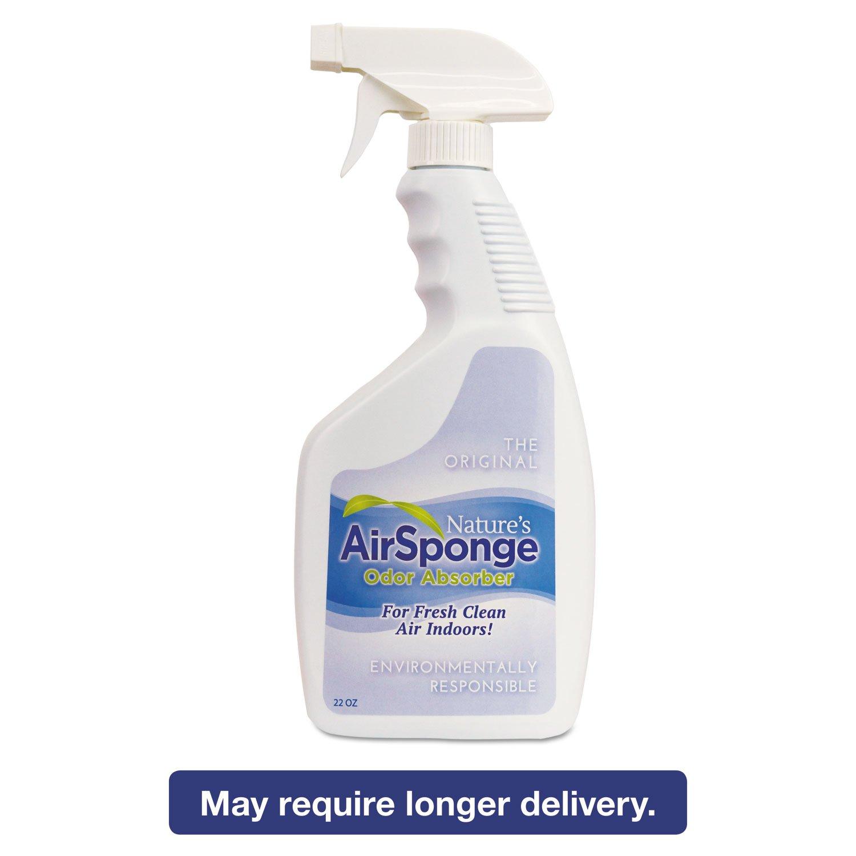 Nature's AirSponge Odor Absorber Spray, Fragrance Free, 22 oz Spray Bottle (12/Carton) - BMC-DEL 10132CT